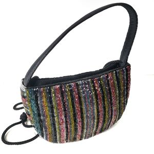 Handbags - Colored Glass Bead Evening Bag